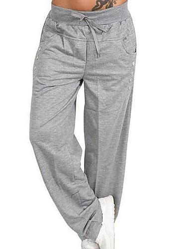 abordables Pantalones y Shorts de Hombre-Hombre Básico Pantalones de Deporte Pantalones - Un Color Azul Marino