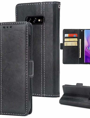 Etui Käyttötarkoitus Samsung Galaxy S9 / S9 Plus / S8 Plus Lomapkko / Korttikotelo / Iskunkestävä Suojakuori Yhtenäinen Kova PU-nahka