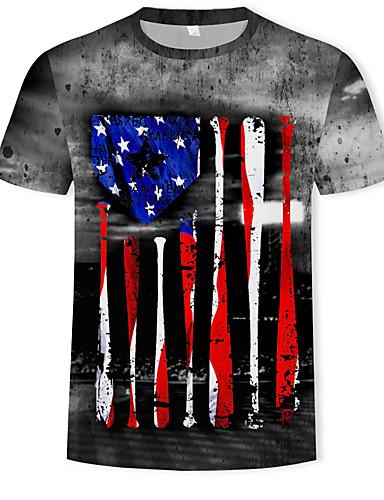 a390a2e5d4cf Ανδρικά T-shirt Συνδυασμός Χρωμάτων   3D Στάμπα Ουράνιο Τόξο XL