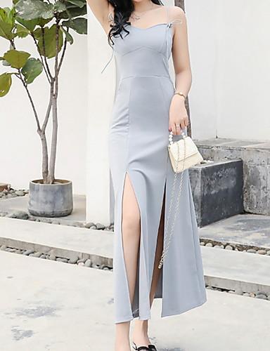 100% Vero Per Donna Fodero Vestito Tinta Unita Maxi #07302458 Il Prezzo Rimane Stabile