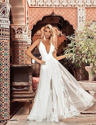 voordelige Maxi-jurken-dames knielange swing jurk wit s m l xl