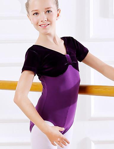 preiswerte Ballettbekleidung-Tanzkleidung für Kinder / Ballett Turnanzug Mädchen Training / Leistung Baumwolle Kombination Kurzarm Normal Gymnastikanzug / Einteiler