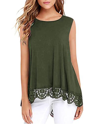 4adfa5fdc baratos Camisetas Femininas-Mulheres Camiseta Patchwork