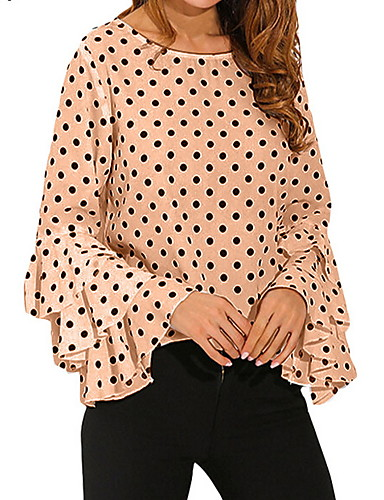 povoljno Majica-Veći konfekcijski brojevi Majica Žene Na točkice Crn