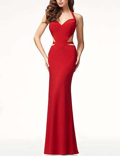 voordelige Maxi-jurken-Dames Verfijnd Elegant Schede Jurk - Effen Maxi