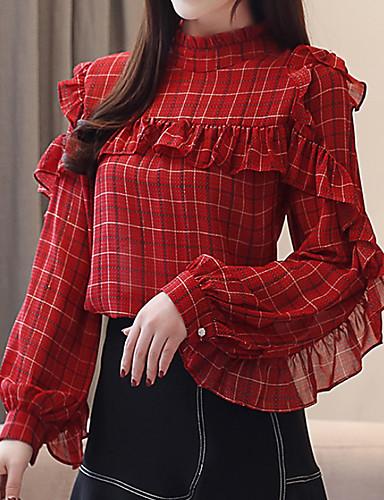 povoljno Ženske majice-Bluza Žene Prugasti uzorak Red