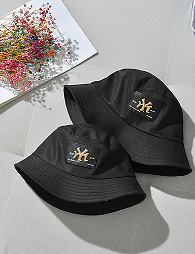 d0725a344b283 Women s Unisex Party Active Cute Cotton Bowler   Cloche Hat Bucket Hat  Floppy Hat-Floral Spring All Seasons Black Blushing Pink Yellow