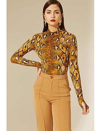 cheap TS@ Clothing-TS@ Women's Slim Bodysuit - Animal Brown