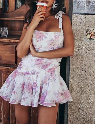 Abile Abito Da Donna Al Ginocchio Una Linea Bianca S M L #07302305 Modelli Alla Moda