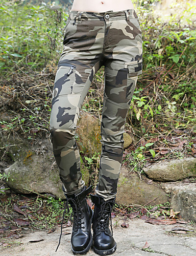 cheap Outdoor Clothing-Women's Camo Hiking Pants Outdoor Fast Dry Quick Dry Breathability Pants / Trousers Bottoms Hunting Hiking Climbing Army Green Forest Green Camouflage M L XL / Micro-elastic