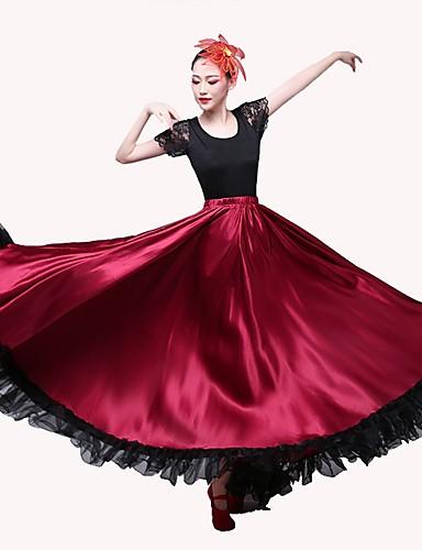 75ca4a61321a Latin Dance Bottoms / Flamenco Women's Performance Matte Satin Gore Natural  Skirts