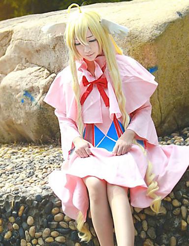 levne Cosplay a kostýmy-Fairy Tail Mavis Cosplay Paruky Pánské Dámské 48 inch Horkuvzdorné vlákno Zlatá Anime