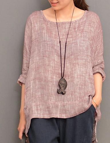 povoljno Ženske majice-Bluza Žene Jednobojni Slim, Loose Fit Dusty Rose Blushing Pink / Proljeće / Ljeto / Jesen / Zima