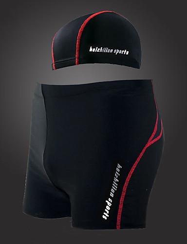 baratos Roupas de Mergulho & Camisas de Proteção-YLENGDA Homens Shorts de Natação Roupa de Banho Resistente a UV Esticar Natação Snorkeling Moderno Verão