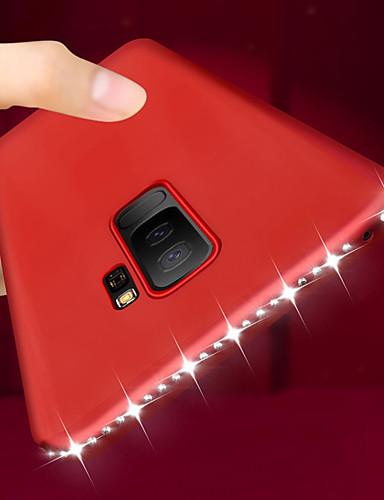 Etui Käyttötarkoitus Samsung Galaxy S9 / S9 Plus / S8 Plus Paljetti / Ultraohut Takakuori Tekojalokivi Pehmeä TPU