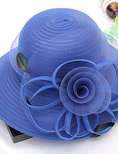 325a29e7 Women's Kentucky Derby Basic Polyester Sun Hat-Solid Colored Wine Khaki Royal  Blue