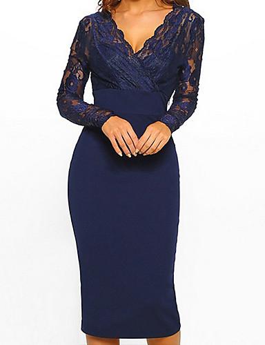 15eeba554113 levne Dámské šaty-Dámské Elegantní Pouzdro Šaty - Jednobarevné