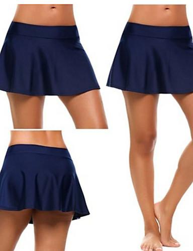 abordables Jupes-Femme Actif Basique Mini Trapèze Jupes - Couleur Pleine Tricot Noir Bleu clair Bleu Roi S M L