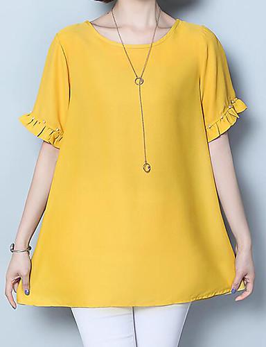 51cd3dff71 Mujer Blusa Un Color Negro XXXXL.  22.87. USD  14.71 · abordables Camisas y Camisetas  para Mujer-Mujer Camiseta ...