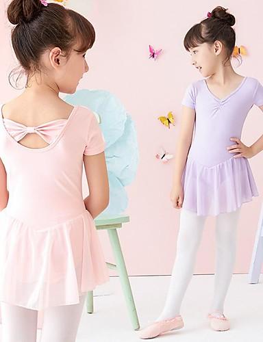 acb52aab0 Ropa de Baile para Niños   Ballet Vestidos Chica Rendimiento Algodón  Fruncido Leotardo   Pijama Mono