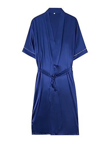 voordelige Herenondergoed & Zwemkleding-Heren Sjaalrevers Kostuum Pyjama  - Effen