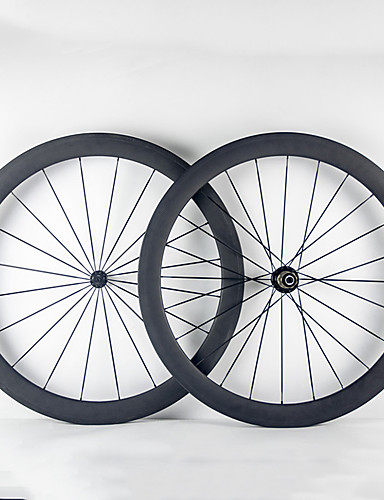 cheap Tires, Tubes & Wheelsets-700CC Wheelsets Cycling 23 mm Road Bike Full Carbon Tubular F:20 R:24 Spokes 50 mm