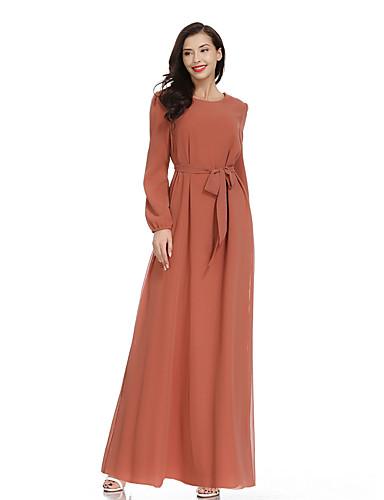 abordables Robes de Fête-Trapèze Bijoux Longueur Cheville Mousseline de soie Robe avec Noeud(s) par LAN TING Express
