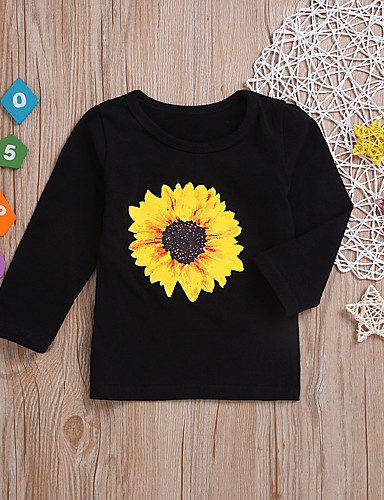 Bambino - Bambino (1-4 Anni) Da Ragazzo Essenziale Con Stampe Manica Lunga Cotone - Poliestere T-shirt Nero #07333741
