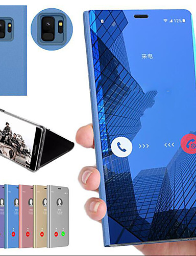 Pouzdro Uyumluluk Samsung Galaxy Note 9 / Note 8 / Note 5 Edge Şoka Dayanıklı / Satandlı / Ayna Arka Kapak Solid Sert PC