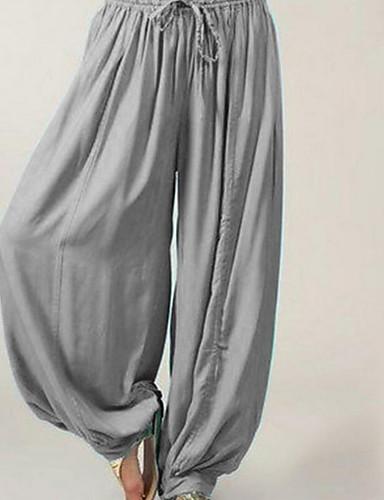 2b61cee2ed abordables Pantalones para Mujer-Mujer Básico Chinos   Pololos Pantalones -  Un Color Gris Oscuro