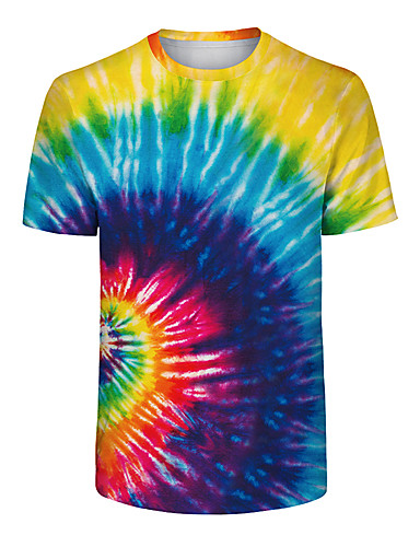 49023d7a16ce Ανδρικά Μέγεθος EU   US T-shirt Ουράνιο Τόξο   Δετοβαμένο Στρογγυλή  Λαιμόκοψη Λεπτό Ουράνιο Τόξο L