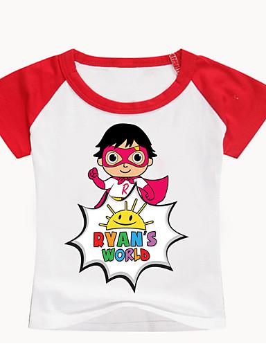 Bambino - Bambino (1-4 Anni) Da Ragazzo Essenziale Con Stampe Con Stampe Manica Corta Cotone - Elastene T-shirt Nero #07320715