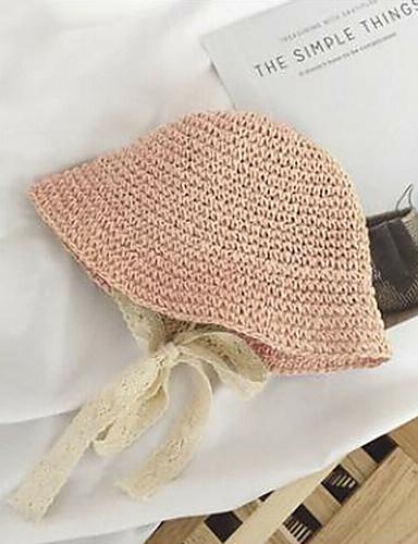 Dolce Per Donna Attivo Stile Sveglio Cappello Da Sole-paglia Tinta Unita Estate Rosa Beige Cachi #07323575 Essere Romanzo Nel Design