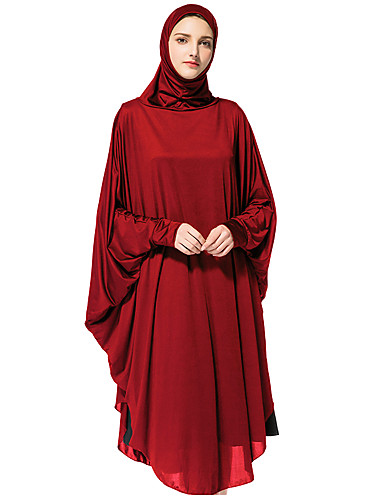 billige Kjoler-Dame Løstsittende Abaya Kjole Rullekrage Knelang