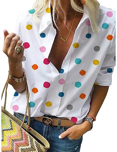 povoljno Ženske majice-Majica Žene - Ulični šik Kauzalni / Ulica Na točkice Print Obala US16