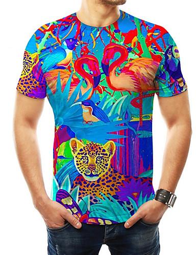 voordelige Heren T-shirts & tanktops-Heren Print T-shirt 3D Regenboog XXXXL