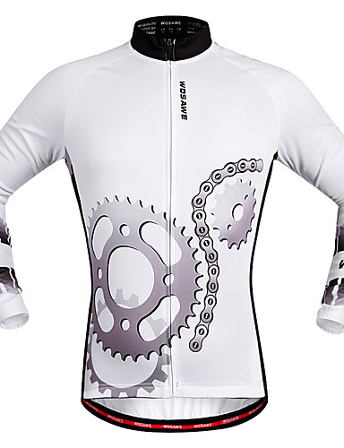 cheap Cycling Clothing-WOSAWE Men's Women's Long Sleeve Cycling Jersey White Bike Jersey Top Quick Dry Sports Polyester Mountain Bike MTB Road Bike Cycling Clothing Apparel / Stretchy / Advanced / Advanced