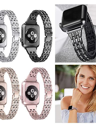 שעון הלהקה עבור אפל שעון 40mm 44mm 38mm 42mm נשים יהלום הלהקה עבור Apple Watch סדרה 4 3 2 1 iwatch צמיד רצועת נירוסטה wristband
