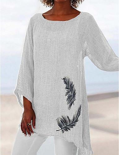 abordables Hauts pour Femme-Tee-shirt Grandes Tailles Femme, Animal Ample Marron