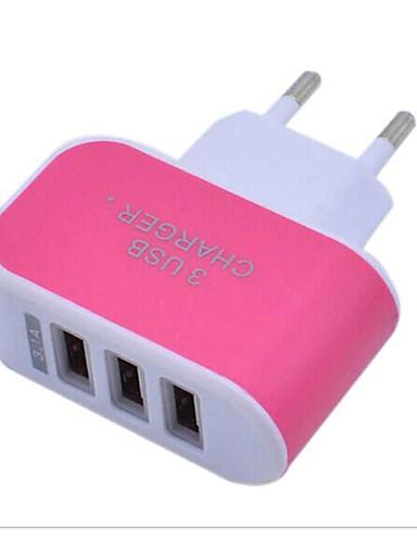LITBest מטען לבית מטען USB EU מחבר נורמלי 3חיבוריUSB 3.1 A 100~240 V ל