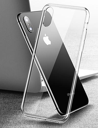 מגן עבור Apple iPhone XS / iPhone XR / iPhone XS Max שקוף כיסוי אחורי שקוף קשיח זכוכית משוריינת