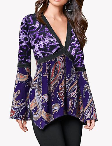 povoljno Ženske majice i kompleti-Majica s rukavima Žene Dnevno / Formalan Leopard Kolaž Obala US6