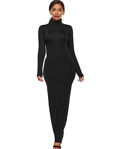 voordelige Maxi-jurken-Dames Standaard Bodycon Jurk Maxi