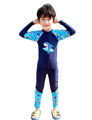 5727148cf7 Boys' Rash Guard Dive Skin Suit Elastane Swimwear Quick Dry Full Body 2- Piece - Swimming Surfing Water Sports Painting Autumn / Fall Spring Summer  ...