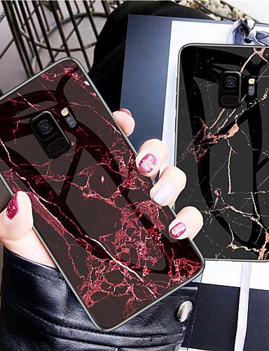 מגן עבור Samsung Galaxy S9 / S9 Plus / S8 Plus תבנית כיסוי אחורי אחיד קשיח זכוכית משוריינת