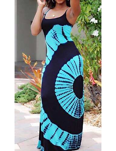 voordelige Maxi-jurken-Dames Standaard Street chic Bodycon Schede Jurk - Geometrisch Tribal, Print Midi