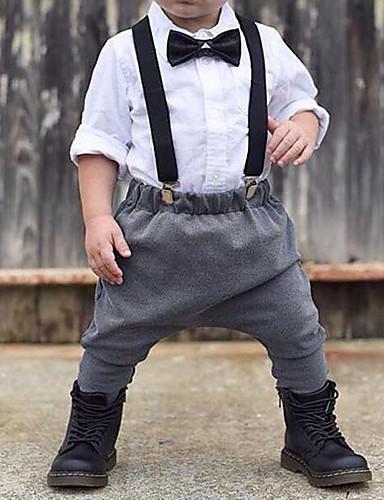 סט של בגדים שרוול ארוך אחיד בנים תִינוֹק