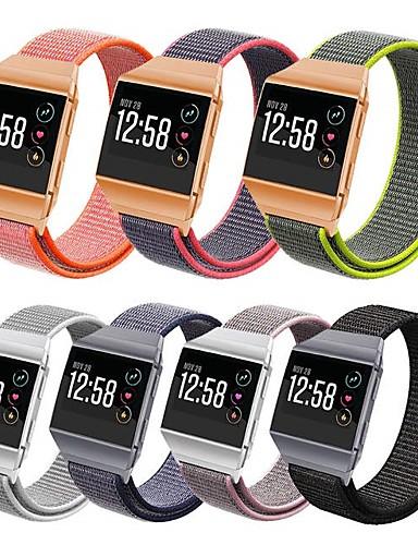 צפו בנד ל Fitbit ionic פיטביט רצועת ספורט ניילון רצועת יד לספורט