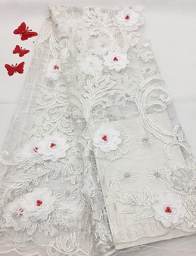 halpa Wedding Dress Fabric-Pitsi Kukkakuviot Pattern 125 cm leveys kangas varten Morsius myyty mukaan 5Yard