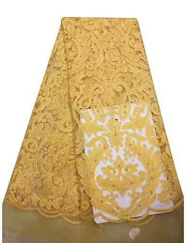 olcso Fashion Fabric-Afrikai csipke Egyszínű Minta 125 cm szélesség szövet mert Menyasszonyi eladott valami által 5Yard